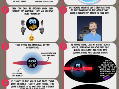 Infographics: Black hole dining habits