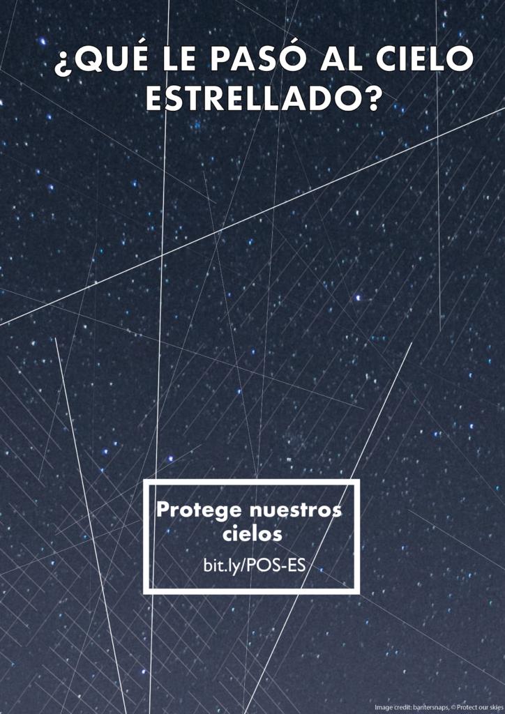 Rastros satélites cielo nocturno